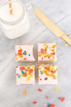 Fruity Pebbles Sugar Cookie Bars