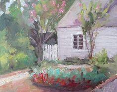 "Daily Paintworks - ""Marys Garden"" - Original Fine Art for Sale - © Carol Josefiak"