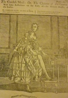 "From the British Library's Untold Lives blog post ""Fanny Murray: Fair and Reigning Toast,"" (17 February 2014) by Moira Goff. Image: Fanny Murray (1729–1778) as ""The Careless Maid."""