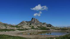 Lac Trouble à 2474 m. Vallée de la Durance. Champcella. Au départ de la cabane de l'Alp, vers la Tête de Vautisse.