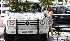 Audrina Patridge and her Mercedes G-Class