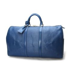Louis Vuitton Keepall 50 Epi Handle bags Blue Leather M42965