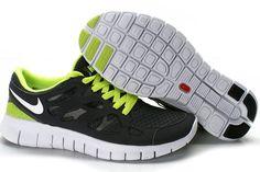 Nike Free Run Sko Herrer Black Grøn 71644