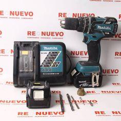 Taladro a batería MAKITA DHP480 con 2 baterias E269296 # Taladro# de segunda mano# MAKITA
