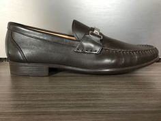 New BALLY SWITZERLAND CORTON BIT LOAFERS Chocolate Shoes size 10.5 $550 #Bally #LoafersSlipOns