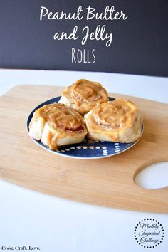 Wrapped up in soft, light cinnamon roll dough peanut butter and jelly never tasted so good.