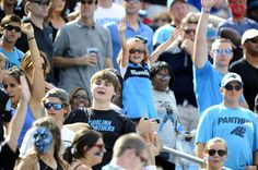 Carolina Panthers fans cheer during the game against the Houston Texans at Bank of America Stadium on Sunday, September 20, 2015. The Panthers won, 24-17.