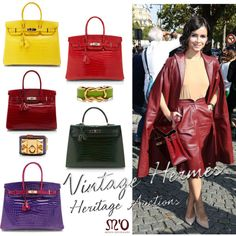 """Vintage Hermès: Heritage Auctions"" by modaoperandi on Polyvore"