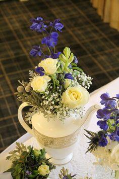 Beautiful Winter Wedding Day at Singleton Lodge for Amanda & Peter Blue Wedding Flowers, Bridal Flowers, Lodge Wedding, Wedding Day, Afternoon Tea Wedding, Blue Bridal, Winter Weddings, Flower Designs, Amanda