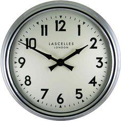 A Large Chrome Wall Clock - 60cm