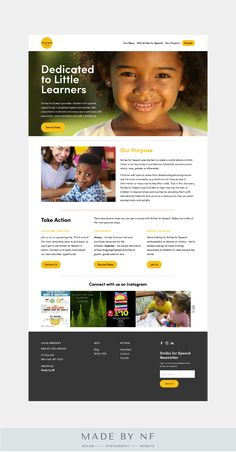 SquareSpace website design for non-profit, Smiles for Speech. Minimal Web Design, Design Responsive, Wordpress Theme Design, Website Design Layout, Website Design Inspiration, Charity Websites, Design Ios, Flat Design, Newsletter Design Templates