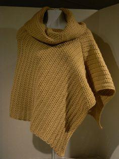 Beige Poncho womens poncho crocheted poncho by JANSONESTOPSHOP, $59.99