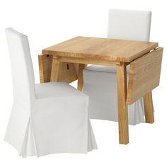 IKEA - MÖCKELBY / HENRIKSDAL Table and 2 chairs oak white, Blekinge