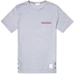 Thom Browne Pocket Stripe Tee (Light Grey)