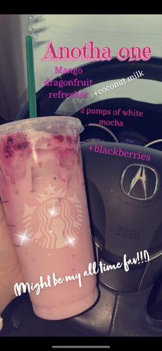 Starbucks Flavors, Starbucks Hacks, Healthy Starbucks Drinks, Starbucks Secret Menu Drinks, Dessert Drinks, Yummy Drinks, Fancy Drinks, Desserts, Smoothie Drinks