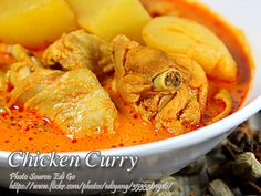 Filipino-Style Chicken Curry recipe Serves: 6 servings Ingredients 1 kilo chicken, you choice of cuts (e. Chicken Curry Recipe Panlasang Pinoy, Filipino Chicken Curry, Curry Recipes, Meat Recipes, Cooking Recipes, Healthy Recipes, Pinoy Food, Filipino Food, Filipino Recipes