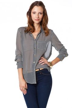 Timeless Stripe Blouse / Shopsosie #blouse #shopsosie