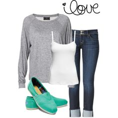 For sure a Spring outfit... Outfits like this make me want to purchase even a wider selection of Toms