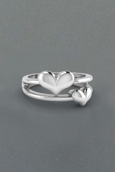 Promise Rings in Sterling Silver exclusively styled by Fascinating Diamonds