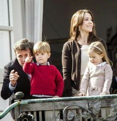 16 April 2014 Danish Royal Family celebrate the 74th birthday of Queen Margrethe at Marselisborg palace in Aarhus