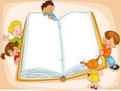 Illustration about Young children are reading a great book. Illustration of education, beautiful, border - 21401688