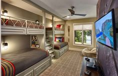 Awesome bunk room!Credit to Tindall Architecture Workshop... - Home Decor For Kids And Interior Design Ideas for Children, Toddler Room Ideas For Boys And Girls