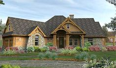 Plan W16800WG: Craftsman, Mountain, Cottage, Corner Lot, Ranch, Vacation House Plans & Home Designs
