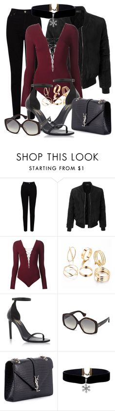 """""""Sin título #903"""" by justcami ❤ liked on Polyvore featuring EAST, LE3NO, T By Alexander Wang, Yves Saint Laurent and Balenciaga"""