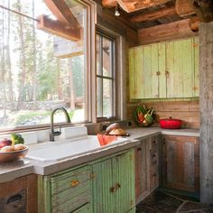 A little *too* rustic for me, but cool for a cabin! by Dan Joseph Architects  Headwaters Camp Custom Designed Cabin by Dan Joseph Architects Big Sky, Montana Photography by Audrey Hall