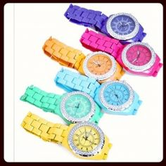 Steel Crystal Watches from P.S. I Love You More Boutique