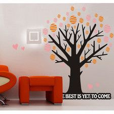 Polka Dot Tree and Quote Life The Best Is Yet To Come Wall Decal