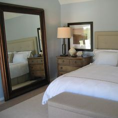 oversized floor mirror | Calvera Oversized Distressed Blue Grey ...