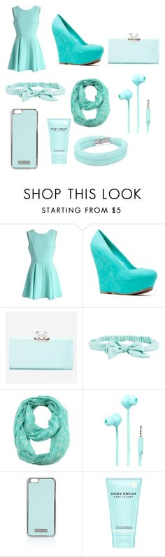 """""""All Blue"""" by mynameisyaya ❤ liked on Polyvore featuring Chicwish, Ted Baker, Aéropostale, ModestlyChic Apparel, Merkury Innovations, Topshop, Marc Jacobs, women's clothing, women and female"""