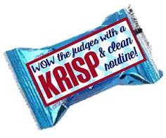Cheer Goody Bag item - Rice Krispies treat - Wow the judges with a KRISP & clean routine! Cheer Snacks, Cheer Treats, Cheer Gifts, Team Snacks, Football Cheer, Cheer Camp, Cheer Coaches, Alabama Football, American Football