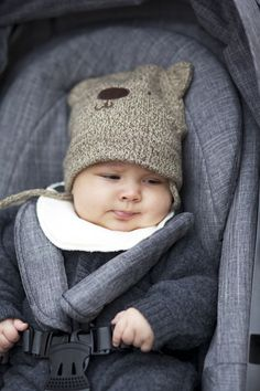 Ingrid Holm blog, baby, teddy bear hat, Stokke Crusi