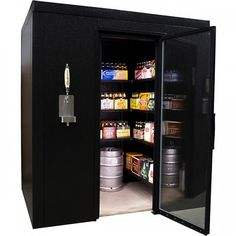 Brew Cave Walk-In Beer Cooler & Kegerator.I repeat Brew Cave Walk-In Beer Cooler & Kegerator Beer Fridge, Beer Cooler, Beer Keg, Beer Brewery, Drink Beer, Decoration Originale, Home Brewing, Brewing Beer, Craft Beer