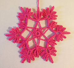 Crochet Snowflakes, Digital Text, Learn To Crochet, Crochet Necklace, Amazon, Books, Pink, Pictures, Inspiration