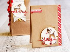 Teneale Williams | INKspired blog hop 24 | Home for Christmas DSP and Christmas Greetings Thinlits Dies from Stampin' Up!