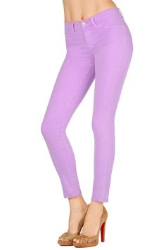 J Brand Skinnies in Neon Purple