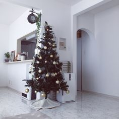 YUUMAさんの、クリスマスツリー♡,RC兵庫支部,ホワイトインテリア,クリスマス,リビング,のお部屋写真