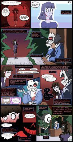 Horrortale Comic 33: Confrontation by Sour-Apple-Studios