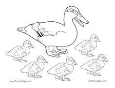 Five little ducks pages coloring pages for Five little ducks coloring page