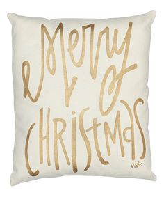 Collins Gold Merry Christmas Throw Pillow