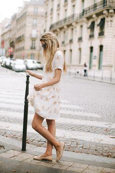 dress with designs on it via barefootblonde.com