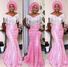 Step Up Your Aso Ebi Styles With This Trending Lace Designs  Amillionstylescom