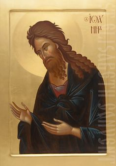 The Icon Painting Studio of St Elisabeth Convent will paint an icon of St John the Baptist to order. We can decorate the icon with chiseling, gemstones, and make a kiot Byzantine Icons, Byzantine Art, Wings Icon, Fortune Cards, Paint Icon, Painting Studio, John The Baptist