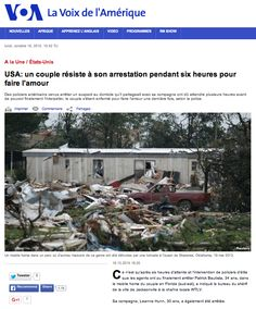 Faire l'amour is top U.S. news today on Voice of America French