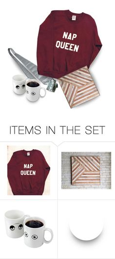 """With Em Not Working & Salary Going to Maria, Fred & Em Had Agreed to Limit Their Presents to Each Other…Em Made Fred a Duct Tape Tie & an Origami Shirt & Bought a Mug Which ""Woke Up"" When Filled With Hot Coffee…Fred Made Em a Trivet & Bought a Sweatshirt"" by maggie-johnston ❤ liked on Polyvore featuring art"