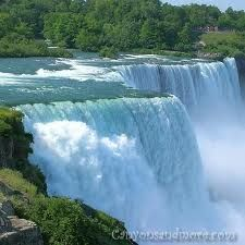Niagara Falls, New York  ....the falls may not be the highest in the world, but their width and the volume of water spilling over them (about six million cubic feet per second) make them stunning (and deafening).