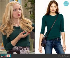 Liv's green sweater on Liv and Maddie.  Outfit Details: https://wornontv.net/59920/ #LivandMaddie